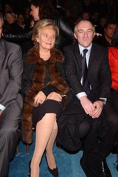 Madame Jacque Chirac and Francois Henri Pinault at YSL F05