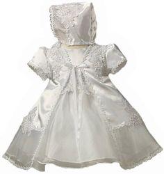 KID Collection BabyGirls Satin  Organza Christening Set 612M Med kid B565 * Visit the image link more details.