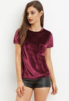 Velvet shirt - Shop All - 2000147335 - Forever 21 EU English Velvet Tops, Cotton Velvet, Velvet Shirts, Red Velvet, Fashion Outfits, Womens Fashion, Fashion Trends, Ladies Fashion, Fashion Clothes