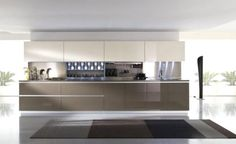 Modern Kitchen Design Concepts Along With Gorgeous Brown Beige Closed Kitchen