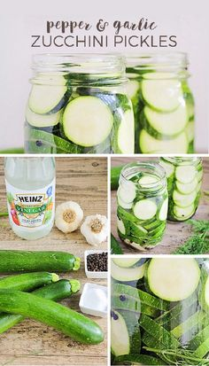 Pepper and Garlic Zucchini Pickles – If you agree that zucchinis are an… Canning Zucchini, Zucchini Pickles, Pickled Zucchini, Zucchini Relish, Picnic Foods, Picnic Potluck, Picnic Recipes, Summer Picnic, Picnic Parties