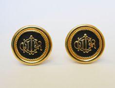 Christian Dior Monogram Clip On Earrings by RockArtemisVintage, $69.00