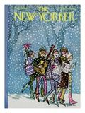 The New Yorker Cover - December 16, 1967 Premium Giclee Print by Charles Saxon