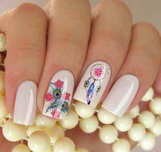 Imagem relacionada Nail Arts, Nails, Nail Stickers, Pink Blossom, Feather, Filter, Collar Necklace, Dreams, Model