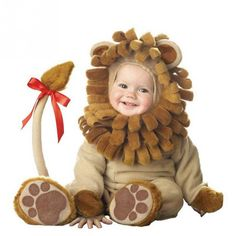 Our Baby Lion Costume is one adorable Baby Halloween Costume. For a larger size lion outfit or for a great family idea consider any of our Lion Costumes for any age. - High quality brown lion suit - F Baby Lion Costume, Lion Halloween Costume, Dinosaur Costume, Halloween Fancy Dress, Infant Halloween, Lion Costumes, King Costume, Costume Dress, Baby Halloween
