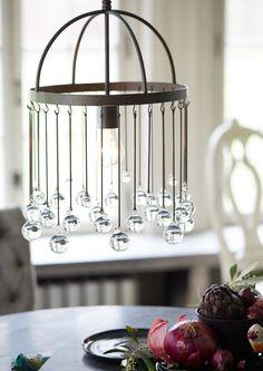 The Glass Sphere chandelier. @Arhaus