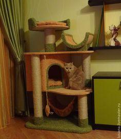 """Купить """"Вдохновение"""" домик для кошек - домик для кошки, Когтеточка, когтедралка, лазалка для кошек, комплект аксессуаров"""