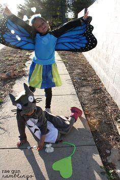 Butterfly Girl and Totoro Costumes - Rae Gun Ramblings