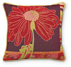 3929: Red Daisy Pillow (Product Detail)