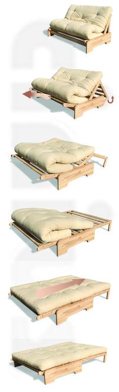 [Divano Letto Roma] Facile, no? Da divano a letto in poche semplici mosse! In legno massello di faggio. (Easy, right? From sofa to bed in a few easy steps! Made of solid beech wood.) #Cinius #sofa