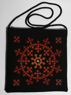 Armenian Handmade Souvenirs - An embroidered purse - Size: cm Hand Work Embroidery, Embroidery Motifs, Modern Embroidery, Hand Embroidery Designs, Ribbon Embroidery, Cross Stitch Embroidery, Kutch Work Designs, Hand Painted Dress, Neckline Designs