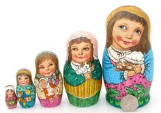 Here is a unique opportunity to acquire an amazing authentic Russian hand crafted wooden set of 5 Nesting Dolls painted by Russian Artist. These sets are truly beautiful works of art, finished all round to the highest standard by one of the very best artists in Russia! | eBay!