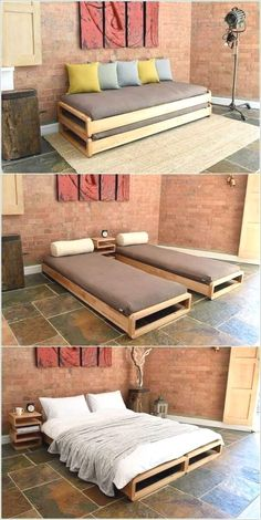 Solid Birch Loop Stacking Bed – Be Slumber-Party-ready with our Loop Stacking Be… - Garten typen Smart Furniture, Sofa Furniture, Pallet Furniture, Furniture Design, Furniture Ideas, Gothic Furniture, Futuristic Furniture, Furniture Movers, Furniture Stores