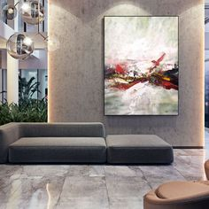 Modern Abstract Painting Large Canvas Art Apartment Decor image 3 Large Wall Canvas, Extra Large Wall Art, Office Wall Art, Office Decor, Oversized Wall Art, Abstract Canvas Art, Modern Wall Decor, Large Painting, Oil Paintings