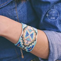 Aztech bangle with little beads by @accessorizegb