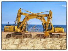 Excavator Hug - Rehoboth Beach, DE, via Flickr.