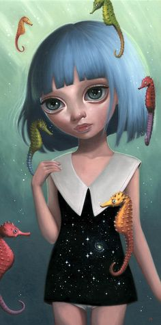 Ana Bagayan - Aquatic Portal  Pop Surrealism