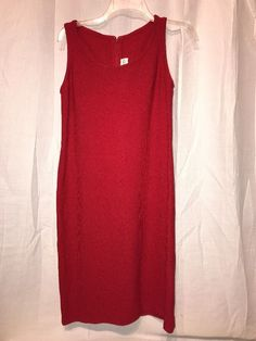 St. John Collection BRILLIANT RED Santana Knit Summer Cocktail Dress 4 USA  | eBay