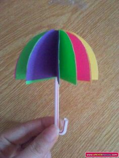 Umbrella Crafts for kids April showers bring May flowers! It's been a rainy week around here, which inspired me to create this umbrella craft with [. Summer Crafts, Diy And Crafts, Arts And Crafts, Paper Crafts, Umbrella Template, Umbrella Art, Umbrella Crafts, Rain Crafts, Diy For Kids