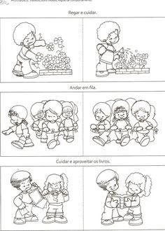 rules in kindergarten Senses Activities, Activities For Kids, Coloring Sheets For Kids, Coloring Pages, Starting School, School Clipart, Classroom Rules, School Worksheets, Preschool At Home