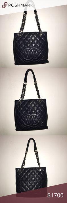 Goeogous vintage Chanel bag Gorgeous real vintage dark blue Chanel bag CHANEL Bags Shoulder Bags