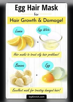 source: StyleEnrich.com | #wittyvows #hair #hairmakeup #hairmask #haircare #hairgrowth #hairgoals #hairgrowthtips #diy #hacks #tips #potd #trendy Egg Hair Mask, Egg For Hair, Hair Mask For Damaged Hair, Hair Mask For Growth, Vitamins For Hair Growth, Hair Growth Treatment, Oily Hair, Hair Growth Tips, Natural Hair Growth