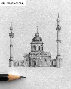 Cool Art Drawings, Pencil Art Drawings, Violin Art, Shiraz Iran, Tokyo Skytree, Islamic Architecture, Environment Design, Islamic Art, Taj Mahal