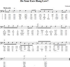 Do Your Ears Hang Low? Bass Clef Sheet Music