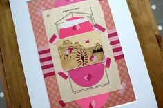 This is a new series of retro paper collages realised using a mix and match of new and vintage paper. I used: • Vintage paper ephemera (old postcards, paper cuts, portraits) • Recycled paper from envelopes • Brand new paper cuts • For the decorations I mostly used marker pens, stickers