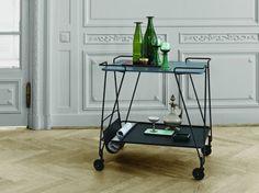 21 of the best bar trolleys: Matieu Matégot for Gubi 'Matégot Trolley', $1,150 from Cult Design.