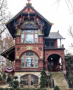 detail of the hermann weinhardt house 1889 storybook on wall street journal crossword id=97263