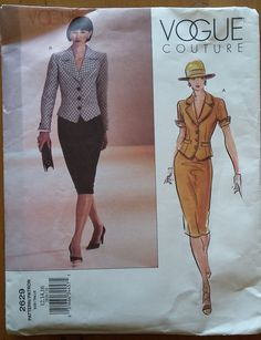 Vogue Couture Pattern 2629 Misses' Top & Skirt