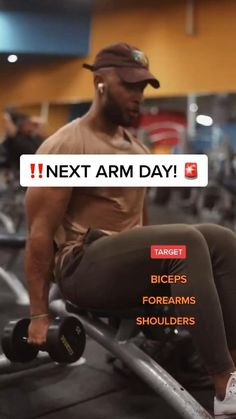 Gym Workout Videos, Gym Workouts, Muscle Fitness, Health Fitness, Full Body Workout Routine, Bigger Arms, Shoulder Arms, Arm Day, Biceps Workout