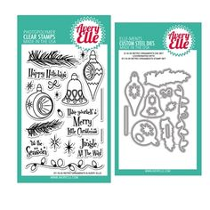 Avery Elle Clear Stamp and Die SETROAE Retro Ornaments SET