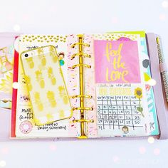 Love this idea from @filo_newbie14 : taking the journal card protector sheet from the Heidi Swapp Memory Planner and hole punching it into your planner . It fits square sticky notes perfectly! Using it to track my #NoSpendMay. (& deck out that pineapple iPhone case! Got it from #JCrew outlet)