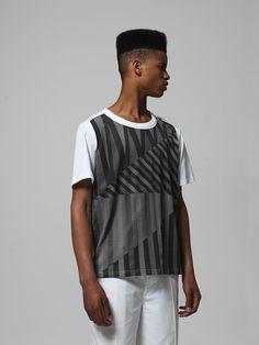 David David Classic t-shirt, print Lighting BW