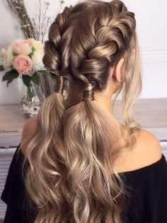Trendy Hair Highlights : Balayage application & finished +Tips; Trendy hairstyles and colors Women hair colors; women How to Dutch Braid Your Own Hair - Chicbetter Inspiration for Modern Women Cute Braided Hairstyles, Box Braids Hairstyles, Trendy Hairstyles, Wedding Hairstyles, Creative Hairstyles, Beautiful Hairstyles, Braided Pigtails, Hairdos, Hairstyles Videos