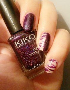 #nailstormeuse #purple #violet #nailart #nailpolish #zebranailart #zèbre #manucure #manicure