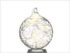 Déco de Noël boule de sapin transparente