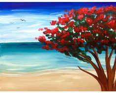 Summer Paint And Sip, Waves, Paintings, Studio, Summer, Outdoor, Art, Art Background, Paint