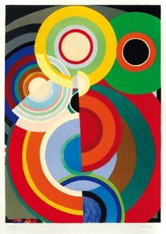 Delaunay Sonia : Lithographie originale signée : Echarpe-Rythmes