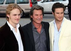 Wyatt Russell, Kurt Russell, and Oliver Hudson photo Poseidon premiere Oliver Hudson, Kate Hudson, Poseidon Movie, Never Getting Married, Kurt Russell, Goldie Hawn, Famous Couples, Celebs, Celebrities
