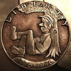 JOEY BLAYLOCK HOBO DOLLAR - LAID BACK - 1976 CCC EISENHOWER DOLLAR