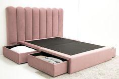 Sommier Gavetas – www.cabeceiras.pt Cama King, Upholstered Beds, Bed Design, Bed Frame, New Homes, Furniture, Home Decor, Toddler Bedding Girl, Bed Designs
