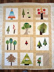 I love trees and I love quilts -  how perfect is this?
