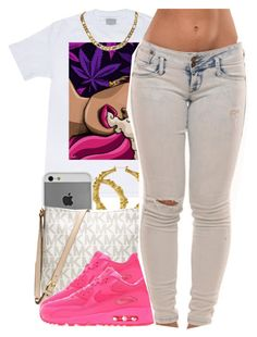"""july 22 2k14"" by xo-beauty ❤ liked on Polyvore featuring Case-Mate, Michael Kors and NIKE"