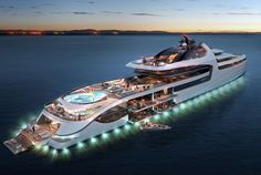 The Admiral X Force 145 could be the world's most expensive yacht — if someone actually commissions it. Buy A Yacht, Yacht Boat, Yacht Club, Super Yachts, Jets Privés De Luxe, Most Expensive Yacht, Jet Privé, Yacht World, Tracker Boats