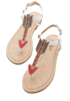 Take Aim Sandal. After a big achievement, you like to relax in these T-strap sandals by Lucky, while your creative mind dreams up your next big ambition! #multi #modcloth
