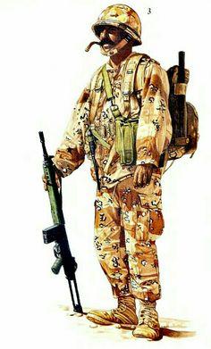 Gulf War 1991, Syrian Army sergeant, pin by Paolo Marzioli