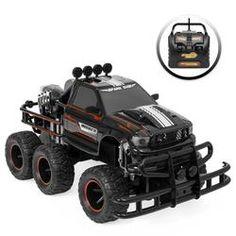 1:12 Remote Control Off-Road Racing Monster Truck w/ Headlights, Dual Rear Wheels - Black